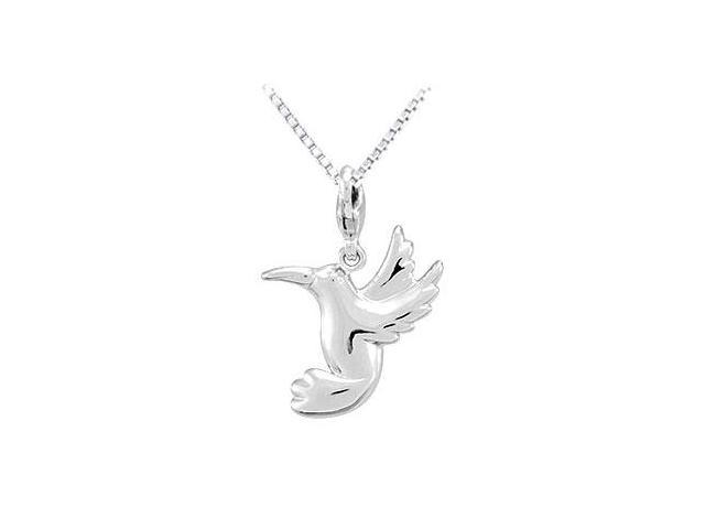 Sterling Silver Charm Hummingbird Pendant