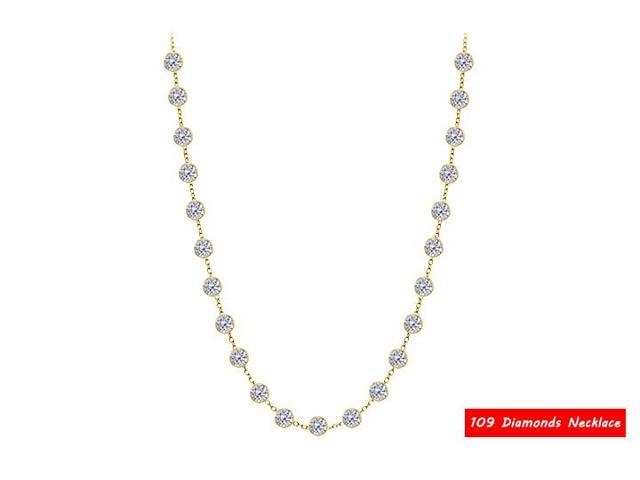 Diamonds by the Yard Necklace in 14kt yellow gold  7.00 ct total diamonds