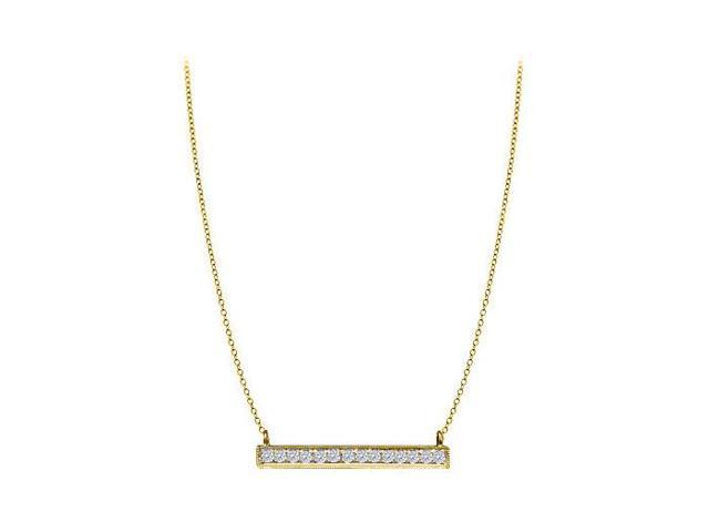 Quarter Carat Prong Set Diamond Necklace in 14K Yellow Gold