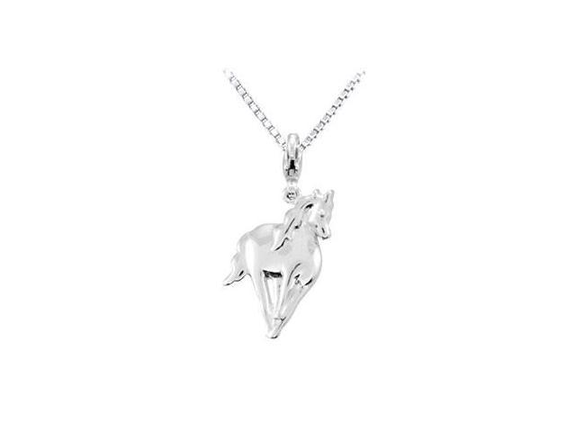 Sterling Silver Charming Animal Horse Charm Pendant