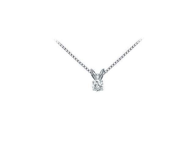Platinum  Round Diamond Solitaire Pendant - 0.15 CT. TW.
