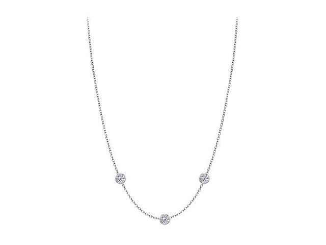 Cubic Zirconia By The Yard Necklace in 925 Sterling Silver 0.50 CT TW