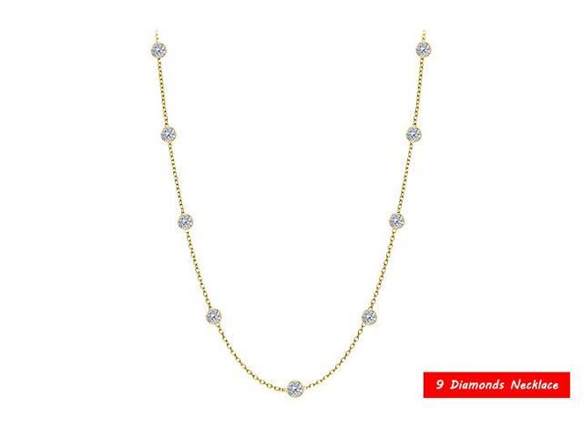 Diamonds by the Yard  Necklace in 14kt Yellow Gold  0.50 CT  TDW