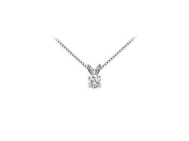 Platinum  Round Diamond Solitaire Pendant - 0.25 CT. TW.