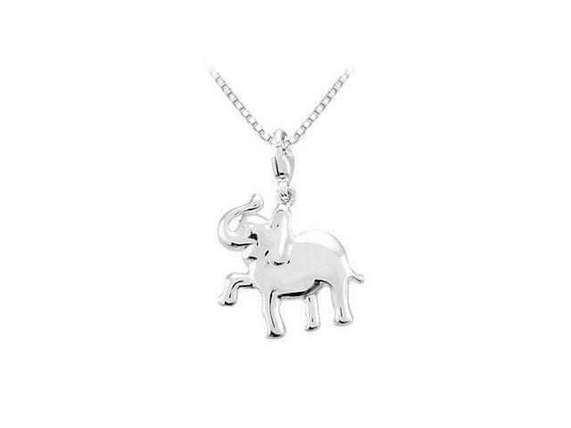 Sterling Silver Charming Animal Elephant Charm Pendant