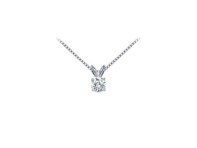 Platinum  Round Diamond Solitaire Pendant - 0.33 CT. TW.