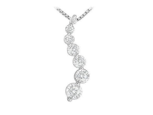 Diamond Journey Pendant  14K White Gold - 1.50 CT Diamonds