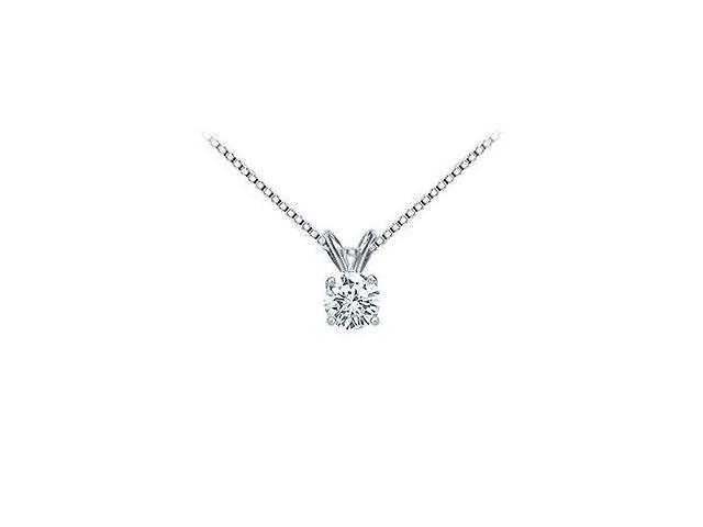Platinum  Round Diamond Solitaire Pendant - 0.50 CT. TW.