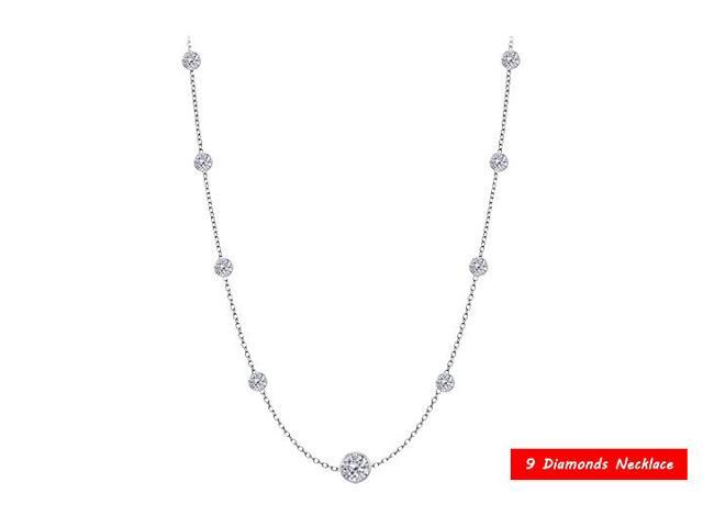 Diamond By The Yard Necklace in 14kt White Gold 0.90. ct.tdw
