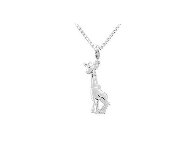 Sterling Silver Charming Animal Giraffe Charm Pendant