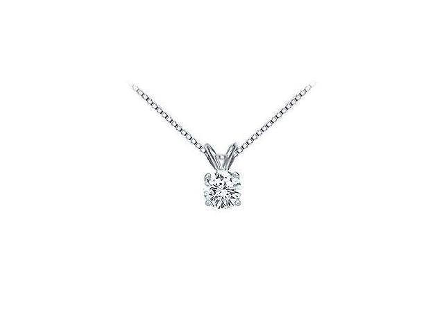 Platinum  Round Diamond Solitaire Pendant - 0.75 CT. TW.