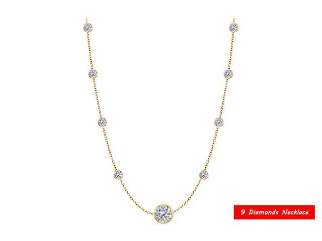 Diamonds by the Yard Necklace in 14kt yellow gold 1.80 CT  TDW