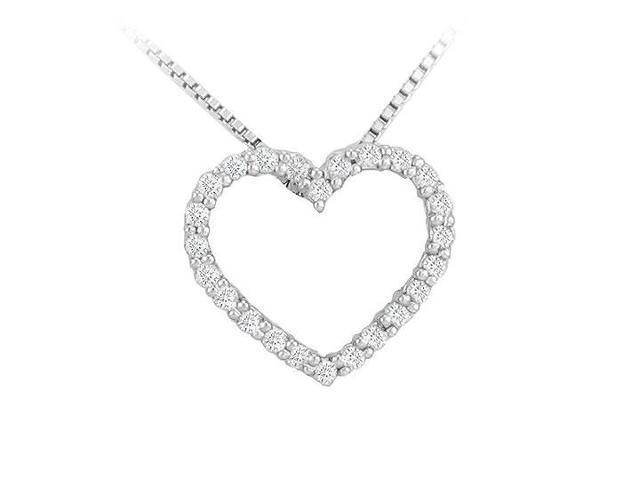 Diamond Heart Pendant  14K White Gold - 0.25 CT Diamonds