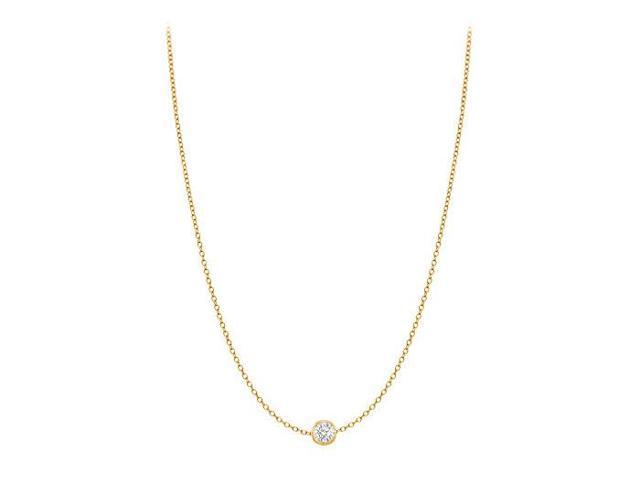Diamond By The Yard Necklace in 14K Yellow Gold Bezel Set 0.05 ct.tw