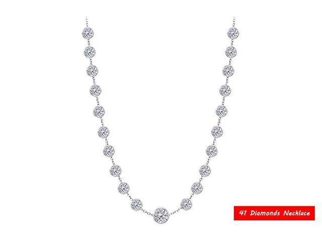 Diamond By The Yard Necklace in 14kt White Gold 8.00. ct.tdw