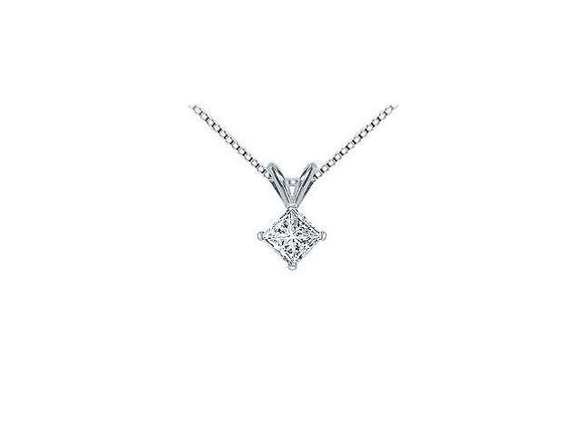Platinum  Princess Cut Diamond Solitaire Pendant - 1.00 CT. TW.