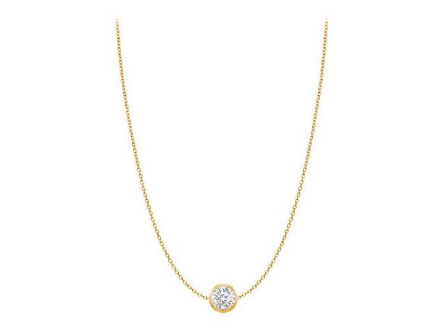 Diamond By The Yard Necklace in 14kt Yellow Gold 0.25 CT Total Diamond