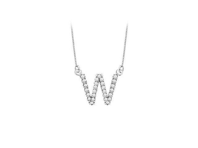 Petite Baby Charm Cubic Zirconia W Initial Pendant  .925 Sterling Silver - 0.33 CT TGW