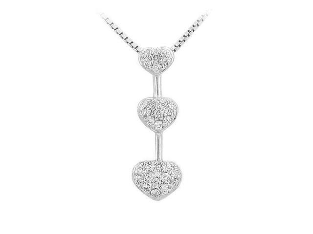Diamond Heart Pendant  14K White Gold - 0.25 CT Diamonds