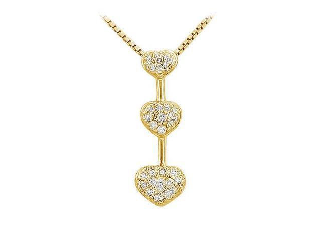 Diamond Heart Pendant  14K Yellow Gold - 0.25 CT Diamonds