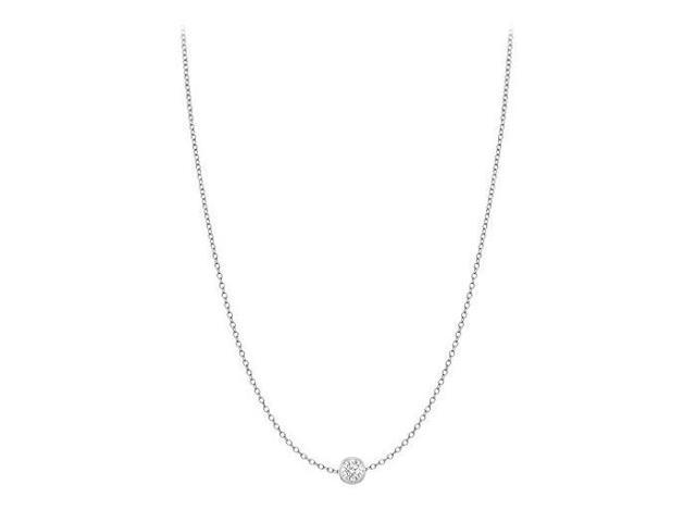 Diamond By The Yard Necklace in 14kt White Gold 0.05 CT Total Diamond