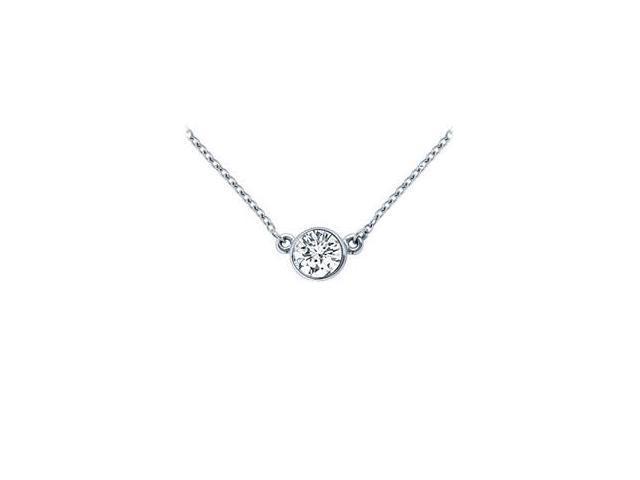 Platinum  Bezel Set Round Diamond Solitaire Pendant - 0.25 CT. TW.