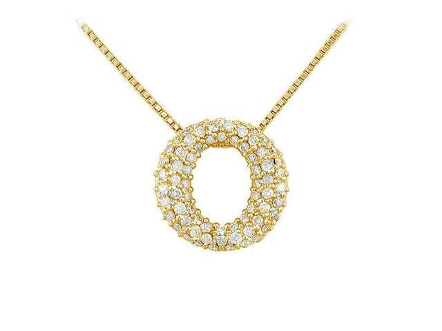 Diamond O Pendant  14K Yellow Gold - 0.75 CT Diamonds