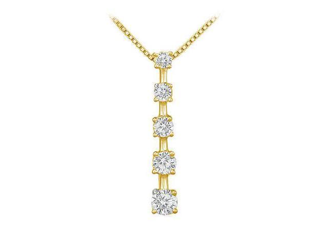 Diamond Journey Pendant  14K Yellow Gold - 1.00 CT Diamonds