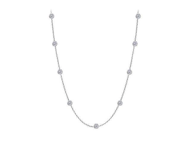 Diamonds By The Yard Necklace in 14kt White Gold 0.25 CT Total Diamonds