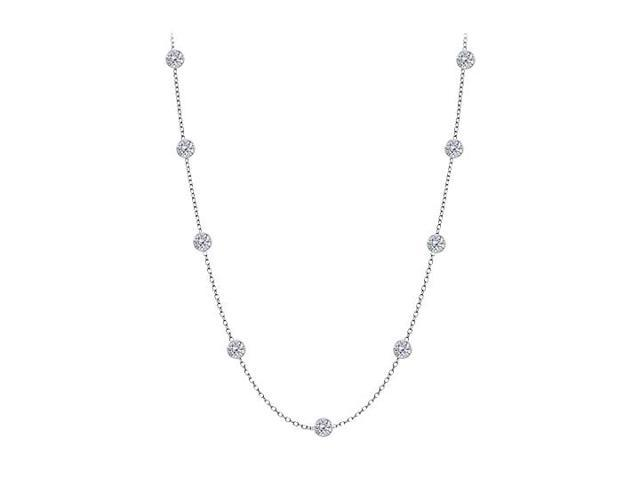Diamonds By The Yard Necklace in 14kt White Gold 0.50 CT Total Diamonds