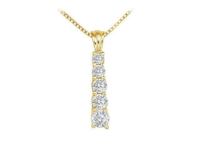 Diamond Journey Pendant  14K Yellow Gold - 1.50 CT Diamonds