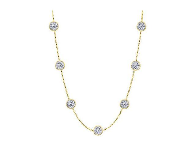 Diamonds By The Yard Necklace in 14K Yellow Gold Bezel Set 5 ct.tw