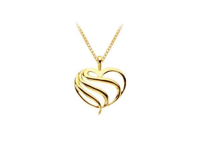 14K Yellow Gold Heart Fashion Pendant