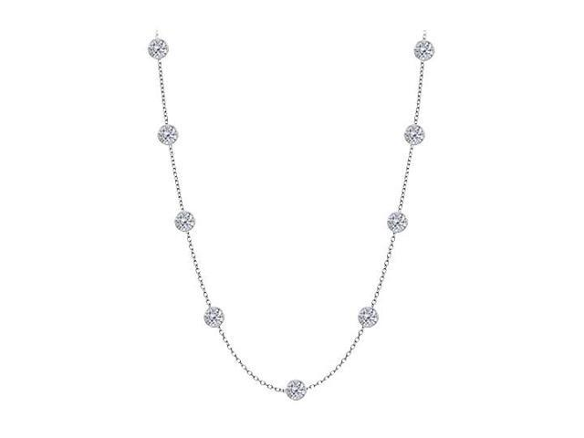 Diamonds By The Yard Necklace in 14kt White Gold 1.50 CT Total Diamonds
