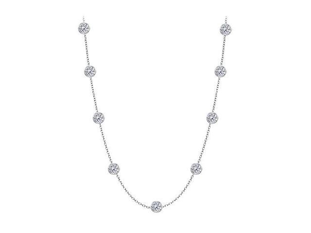 Diamonds By The Yard Necklace in 14kt White Gold 3.00 CT Total Diamonds
