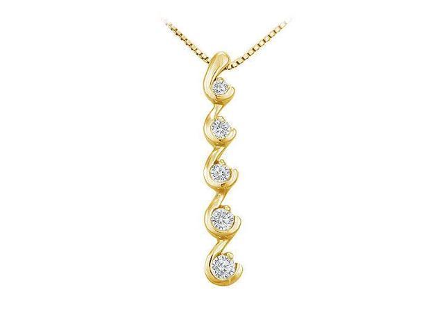 Diamond Journey Pendant  14K Yellow Gold - 0.25 CT Diamonds