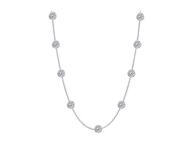 Diamonds By The Yard Necklace in 14kt White Gold 4.00 CT Total Diamonds