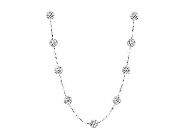 Diamonds by the Yard Necklace in 14K White Gold 5.00 CT Total Diamonds