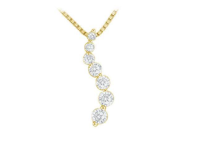 Diamond Journey Pendant  14K Yellow Gold - 0.50 CT Diamonds