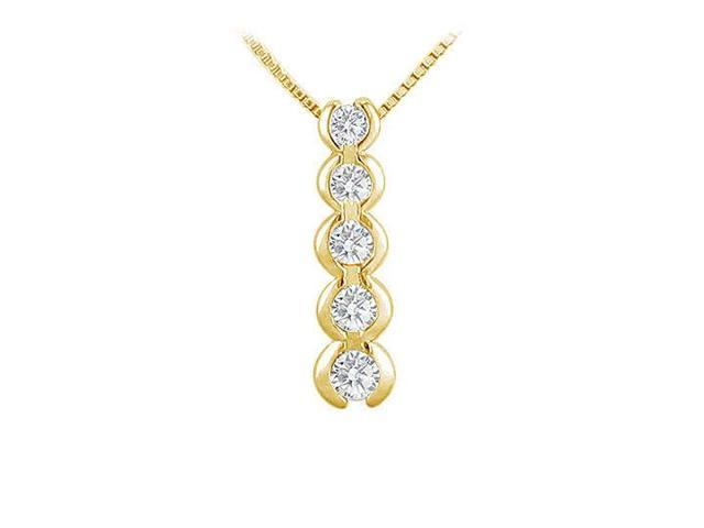 Diamond Journey Pendant  14K Yellow Gold - 0.50 CT Diamonds