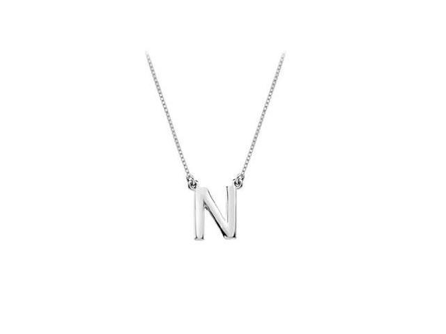 Sterling Silver Baby Charm N Block Initial Pendant
