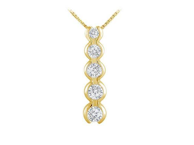 Diamond Journey Pendant  14K Yellow Gold - 1.00 CT Diamonds