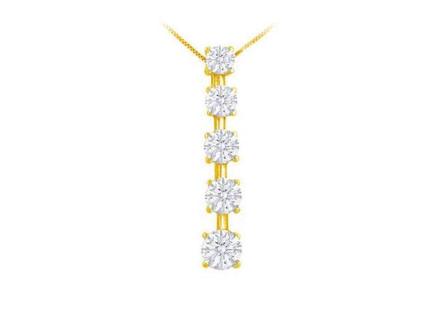 Diamond Journey Pendant  14K Yellow Gold - 1.50 CT Diamonds