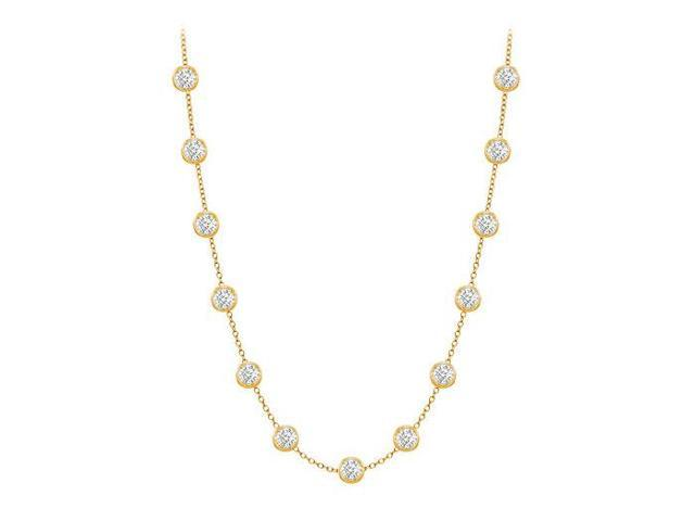 Diamonds By The Yard Necklace in 14K Yellow Gold Bezel Set 1 ct.tw