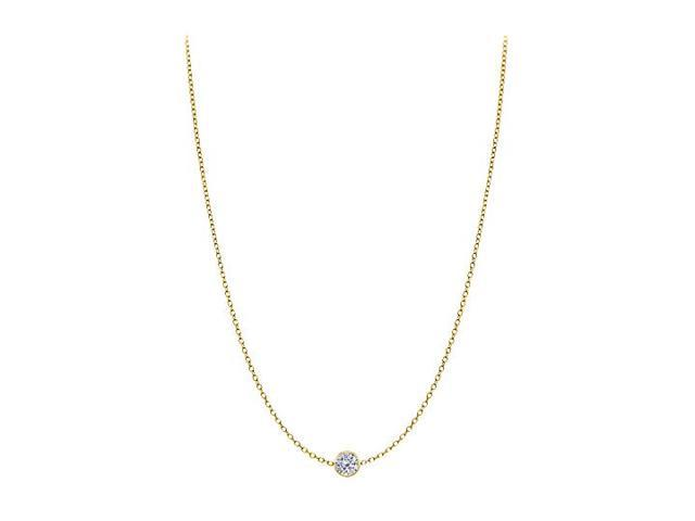 Diamond By The Yard Necklace in 14K Yellow Gold Bezel Set 0.20 ct.tw