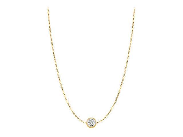 Diamond By The Yard Necklace in 14K Yellow Gold Bezel Set 0.33 ct.tw