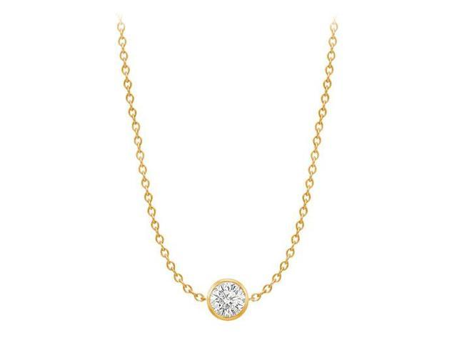 Diamond By The Yard Necklace in 14K Yellow Gold Bezel Set 0.75 ct.tw