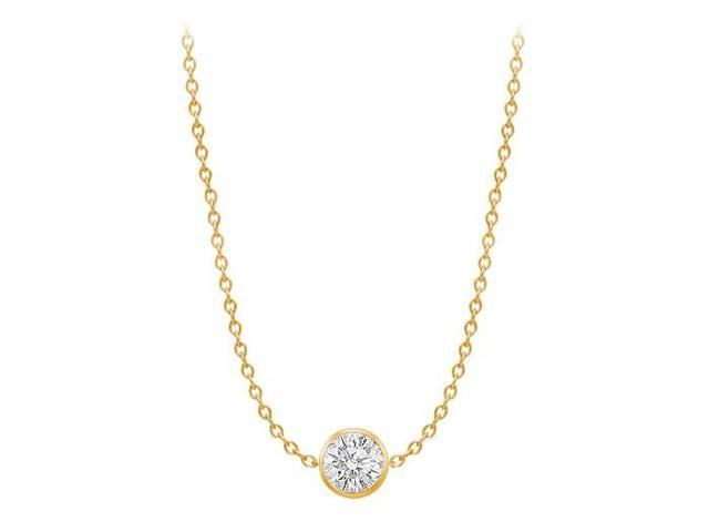 Diamond By The Yard Necklace on a 14K Yellow Gold Bezel Set 1.00 ct.tw