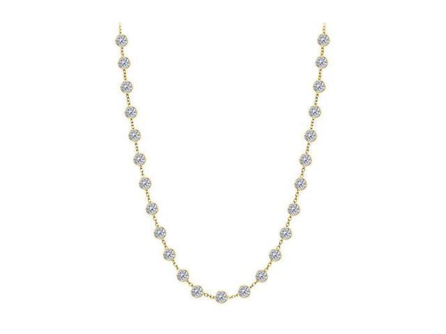 Diamonds By The Yard Necklace in 14K Yellow Gold Bezel Set 1.25 ct.tw