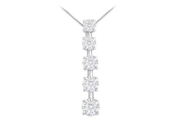 Diamond Journey Pendant  14K White Gold - 2.00 CT Diamonds